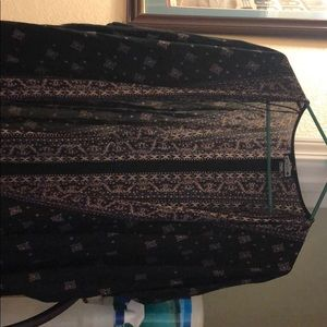 Black and purple cardigan